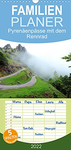 Pyrenäenpässe mit dem Rennrad 2022 (Wandkalender 2022, 21 cm x 45 cm, hoch)