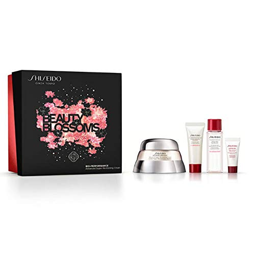 Shiseido Advanced Super Revitalizing Cream Set Gesichtspflegeset (Creme,50 ml+Reinigungsschau,15 ml+Treatment Softener,30ml+Ultimune,5ml), 250 g