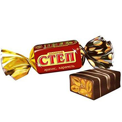 Konfekt Zolotoy Step Karamell & Erdnüsse in kakaohaltiger Fettglasur 1kg chocolate candy