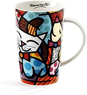 Gift Craft Romero Britto Bone China Mug- Cat Design