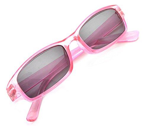 4sold leesbril leesbril heren dames Slim Sun UV400 Reader zonnebril Dioptria (roze, 0,75)
