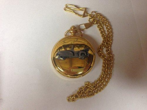 Bond Minicar MKD ref34 emblema de coche con efecto peltre en una caja de oro pulido para hombre regalo de cuarzo hecho en Sheffield