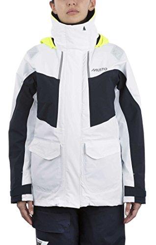 Musto Womens BR2 Yacht Segeln und Bootfahren Coastal Sailing Yachting und Dinghy Coat Jacket - Schwarz - Atmungsaktiv Wasserdicht