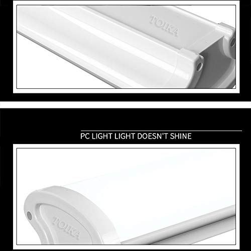 AKATOBA 2ft LED Vapor Proof Tube Light Waterproof IP65 2 Foot 30W 3600 LM Waterproof Dustproof Ceiling Lights Shop Light Factory Warehouse Industrial Outdoor Lighting 100W Equivalent (48, Warm White) 6