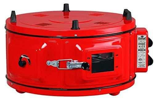 Itimat | horno redondo | XL | con termostato | redondo | rojo |