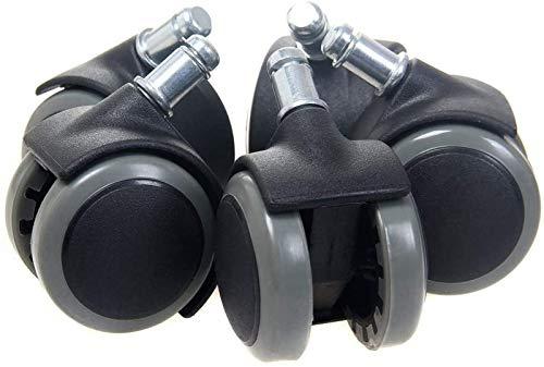 ZJDU Ruedas para Muebles Rueda de Silla de Oficina para Pisos Duros Rollo de PU Suave para Silla giratoria Resistente a la Silla de Oficina para Pisos de Madera 11 mm Rollo de reemplazo de Pluma