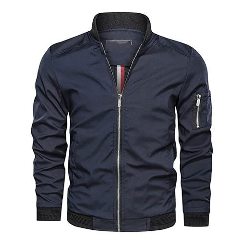 N\P Chaqueta de hombre primavera otoño casual chaqueta hombre cuello de béisbol abrigo ligero peso ligero