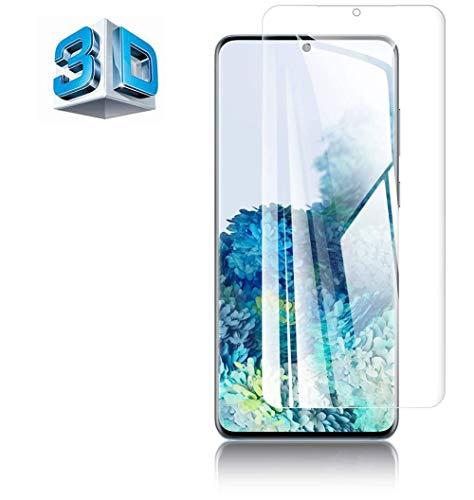 For Galaxy S20 ガラスフィルム ギャラクシー S20 5G SC-51A SCG01 フィルム 専用 3D曲面 硬度9H 3D Touch対応 高透過率 指紋防止 気泡防止 自動吸着