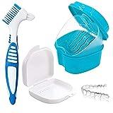 Caja de almacenamiento de dentaduras postizas, caja de inmersión, instalaciones sanitarias, caja de almacenamiento de ortodoncia, 2 cajas...