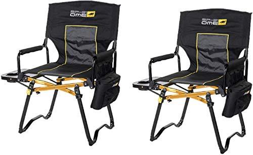Proper Spec Set of 2 New ARB Compact Directors Chairs - Black - 10500131A