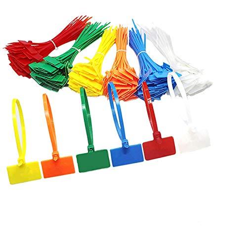 1500 Stück Nylon-Kabelbinder Kabelmarkierungs-Etiketten, selbstschließende Kordel, Stromherstellung, Etikettenmarkierung für Zuhause und Büro