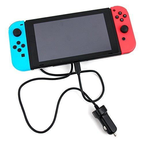 DURAGADGET Chargeur Voiture Allume-Cigare Type C Compatible avec Nintendo Switch écran 6,2