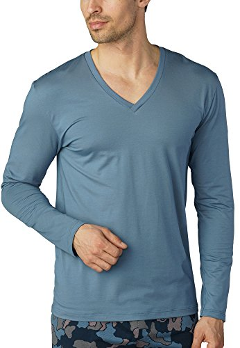 Mey Herren Shirt 1/1 Arm 46520, Mountain Blue, S