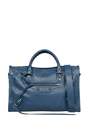 Luxury Fashion | Balenciaga Dames 431621D94JN4230 Blauw Leer Handtassen | Seizoen Permanent