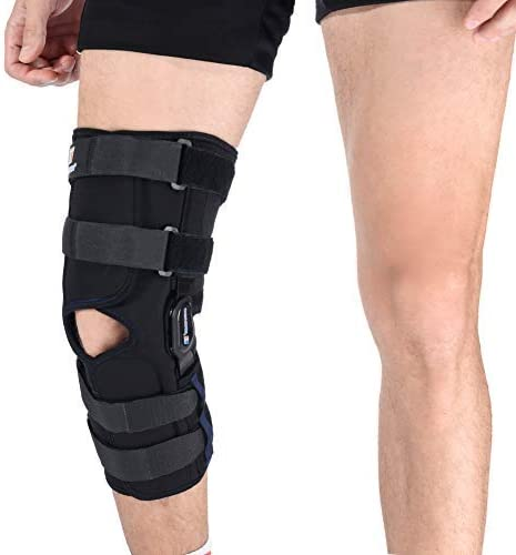 """HINGED Louisville-Jefferson County Mall Knee Brace 16""""Tall Wrap Rebound Max 65% OFF Support Breathe"""