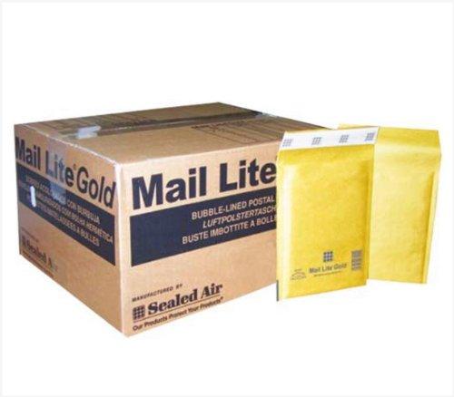 Mail Lite D/1 JL/1 - Buste imbottite a bolle d'aria, confezione da 100 pezzi, 180 x 260 mm, colore: oro