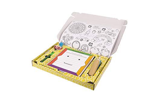SEITENBUNT - Selbstmachbuch. Bastelbuch Set, Buch Bastel Set für Kinder, Sticker zum Ausmalen, Bastelset, Buch DIY, Buch selber Machen, Ausmalheft, Bastel Geschenk für Kinder