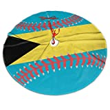 NPZBHoney3x5 Bahamas Flag Baseball Clipart Christmas Tree Skirt Country Xmas Tree Decorations Tree Skirts