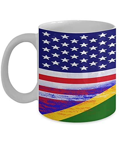 N\A USA Salomonen Flagge polynesische 11oz weiße Kaffeetasse Teetasse