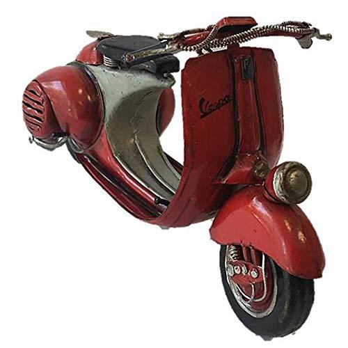 Pamer-Toys Motorradmodell aus Blech - im Antik-Vintage-Retro-Style - Motorroller, rot