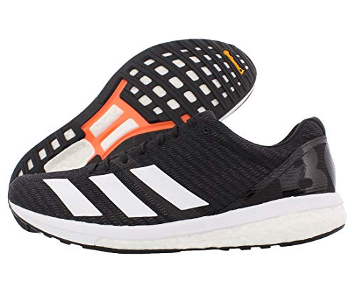 adidas Men's Adizero Boston 8 Running Shoe, Black/White/Grey, 12 M US