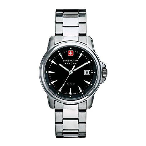Swiss Military Hanowa Reloj Analógico para Hombre de Cuarzo con Correa en Acero Inoxidable SM06-8010-04-007