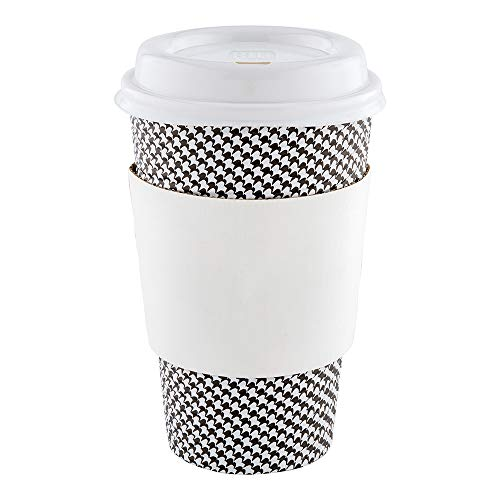 Restpresso White Paper Coffee Cup Sleeve - Fits 12/16 / 20 oz Cups - 50 count box - Restaurantware