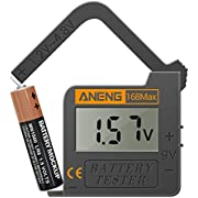 CGGO 168MAX Battery Tester,Suitable for AA AAA C D 9V 1.5V Button Cell Batteries,Portable Universal Digital Battery Charge Checker
