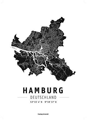 Hamburg, Designposter, Hochglanz-Fotopapier (freytag & berndt Poster + Markiertafeln)