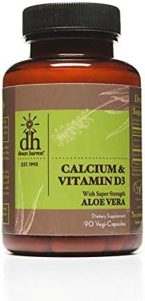 Desert Harvest Calcium Carbonate 500 mg Vitamin D3 200 IU 90 Capsules product image