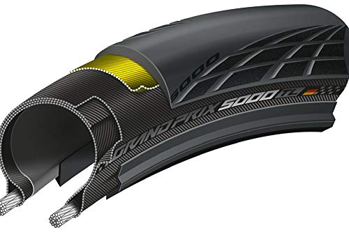 Continental Unisex– Erwachsene Grand Prix 5000 Tubeless Fahrradreifen, schwarz, 25