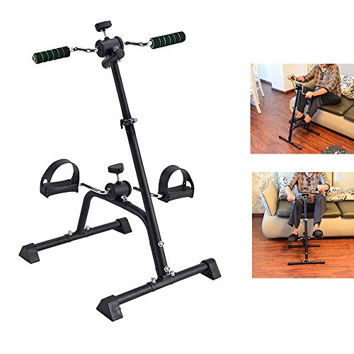Synteam Compact Mini Exercise Bike Arms and Legs Adjustable Fit Sit Peddler Exerciser for Elder