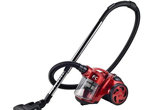 Family Care Aspirador ciclónico sin bolsa, depósito 1.8L, 700W, filtro HEPA hipoalergénico, Eficiencia energética A, color rojo-negro,