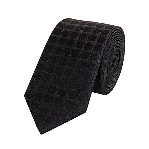 Fabio Farini - Cravates, nœuds papillons et mouchoirs attrayants et élégants pour la robe à cravate noire code noir cravate noir à motifs