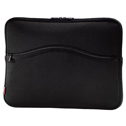 Hama Notebook-Cover Comfort (Schutzhülle für Notebook / Netbook / Laptop, Notebooktasche geeignet für Computer bis 34 cm / 13,3 Zoll Displaydiagonale, Laptoptasche stoßfest, gepolstert) schwarz