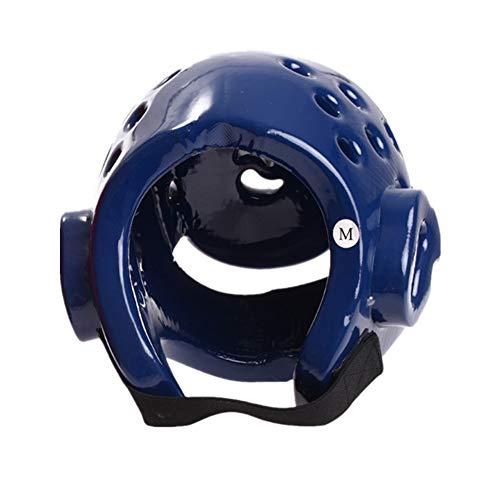 ERSD Erwachsene Kinder Taekwondo Schutzhelm Kopf/Boxen Kopfschutz Sanda Training Karate Schutzausrüstung Helme MMA Kampf Hut Vollgesichtsschutz Kopfschutz (Farbe : Blau, Size : S)