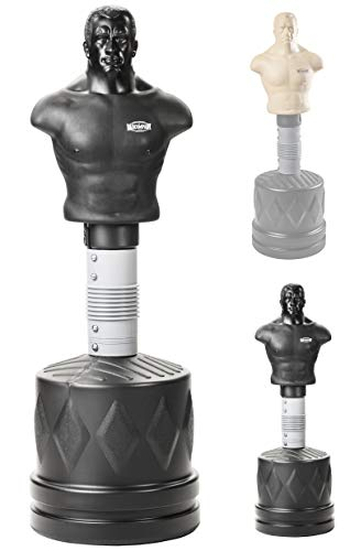 Bad Company Bob der Box-Dummy I Höhenverstellbarer Boxsack-Torso für gezieltes Kombinationstraining I BCA-79 (Schwarz)