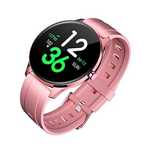 TOUGUE-Reloj Inteligente-Smartwatch Mujer y Hombre. Smart Watch con Control presión Arterial, Deportivo, monitores sueño y de Actividad, oxIgeno, podometro. Compatible con Android & iOS. (Rosa)