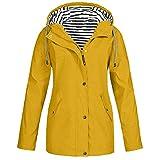 LILICAT Women Waterproof Coat Solid Rain Jacket Outdoor Jacket Hooded Raincoat Windproof Warm Drawstring Zipper Long...