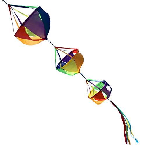 "9KM DWLIFE 62"" Fashion Windsocks Wind Twister Spinners Rainbow Kite Socks Flag Garden Yard Decoration"