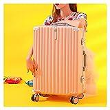 LOMJK Equipaje, Caja de Carro Simple y Liviana, Maleta de Viajes de Negocios de 26 Pulgadas de Gran Capacidad con Ruedas universales de 360 Grados (Color : Pink, tamaño : 20 Inches)