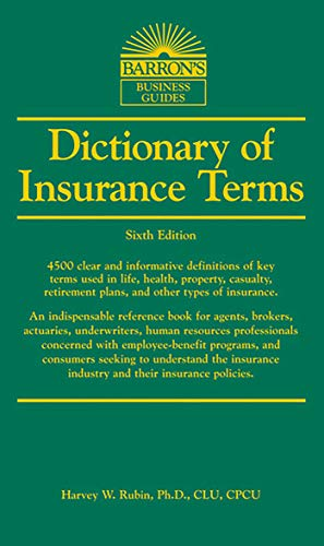 Price comparison product image Dictionary of Insurance Terms (Barron's Business Dictionaries)