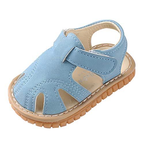 YWLINK Sandalias De Cuero PU para BebéS, Zapatos De Verano, Sandalias NiñOs, Suela Blanda, Zapatos De Bebé Antideslizantes,Principiante,Zapatos para NiñOs PequeñOs,Sandalias Baotou Transpirables