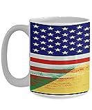 N\A Amerikanische Demokratische Republik Kongo Flagge Weiße Kaffeetasse Teetasse Amerikanisches Einwanderungsland