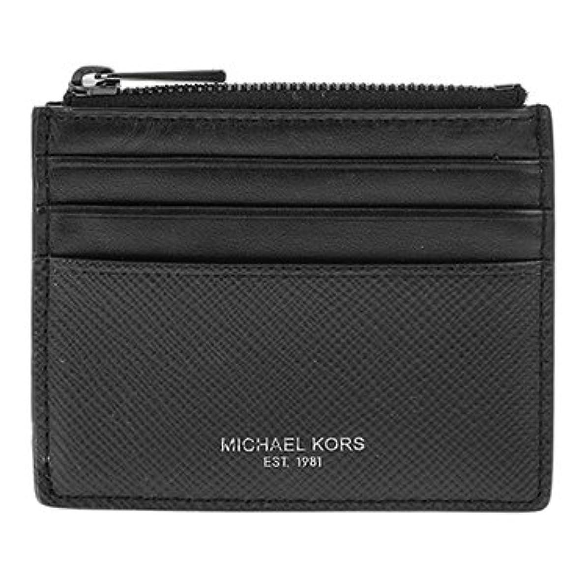 費やす残基不幸(マイケルコース)MICHAEL KORS カードケース HARRISON 39F6LHRD6L 001 ブラック メンズ 取寄商品 [並行輸入品]