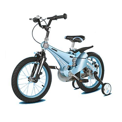 TD Kinderfahrrad 12 Zoll Kind Fahrrad 14 Zoll 16 Inch Magnesiumlegierung Scheibenbremse Kinderwagen V0077 (Color : Holy Lake Blue, Size : 16 inches)