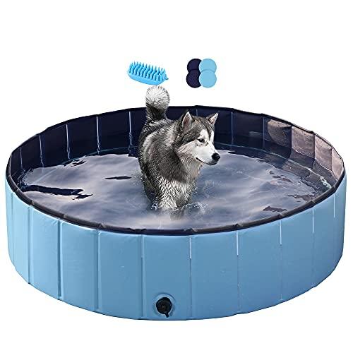 Yaheetech Hundepool Swimmingpool Planschbecken Badewanne Wasserbecken für Hunde 120 x 30cm