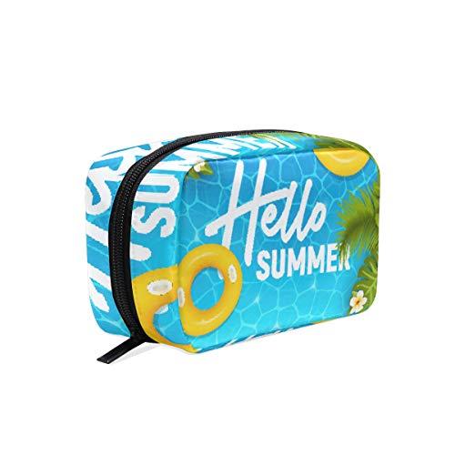 Trousse de toilette pour cosmétiques, maquillage, trousse de toilette pour sac à main, organiseur avec compartiments accessoires de voyage, mini femme Hello Summer Beach