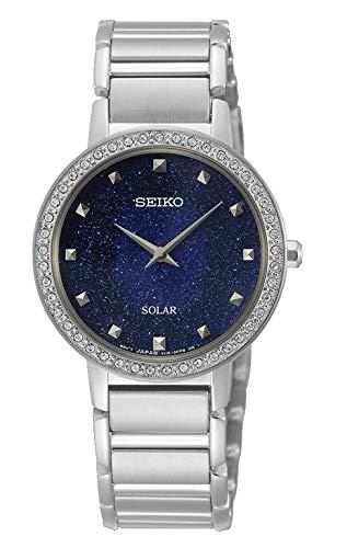 Seiko Reloj Analógico para Mujer de Cuarzo con Correa en Acero Inoxidable SUP433P1