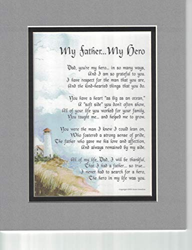 My Father My Hero - 60th Birthday Gift Ideas for Dad Poem